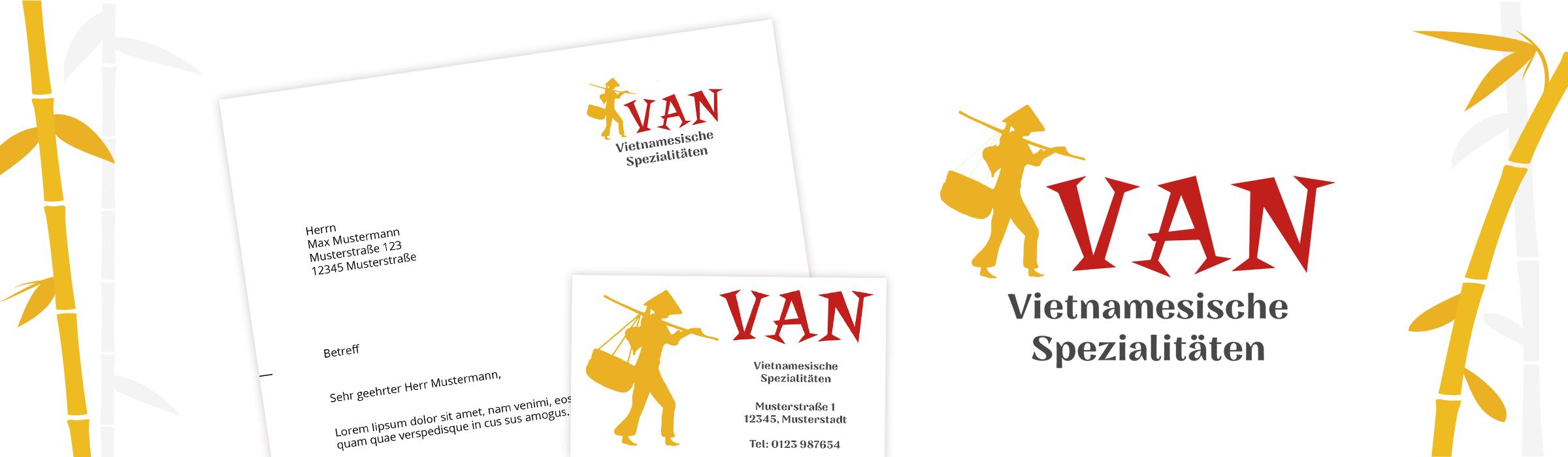 Druckerzeugnisse für das Restaurant VAN