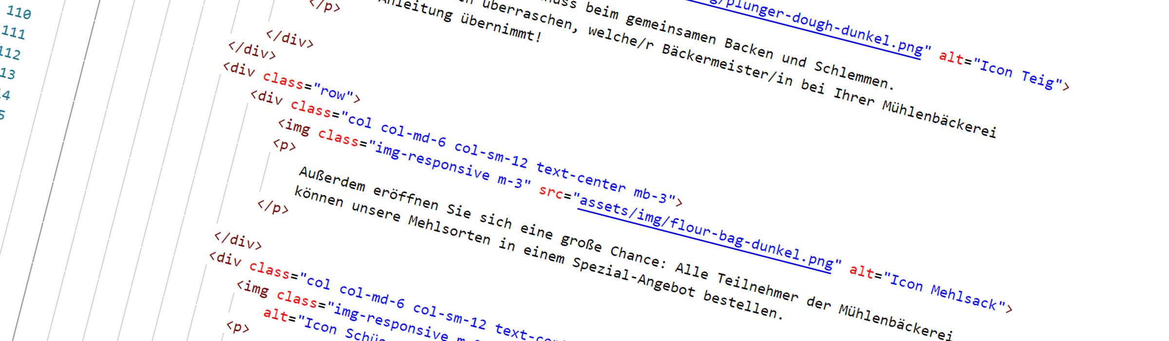 Webdesign und Programmierung - HTML Code