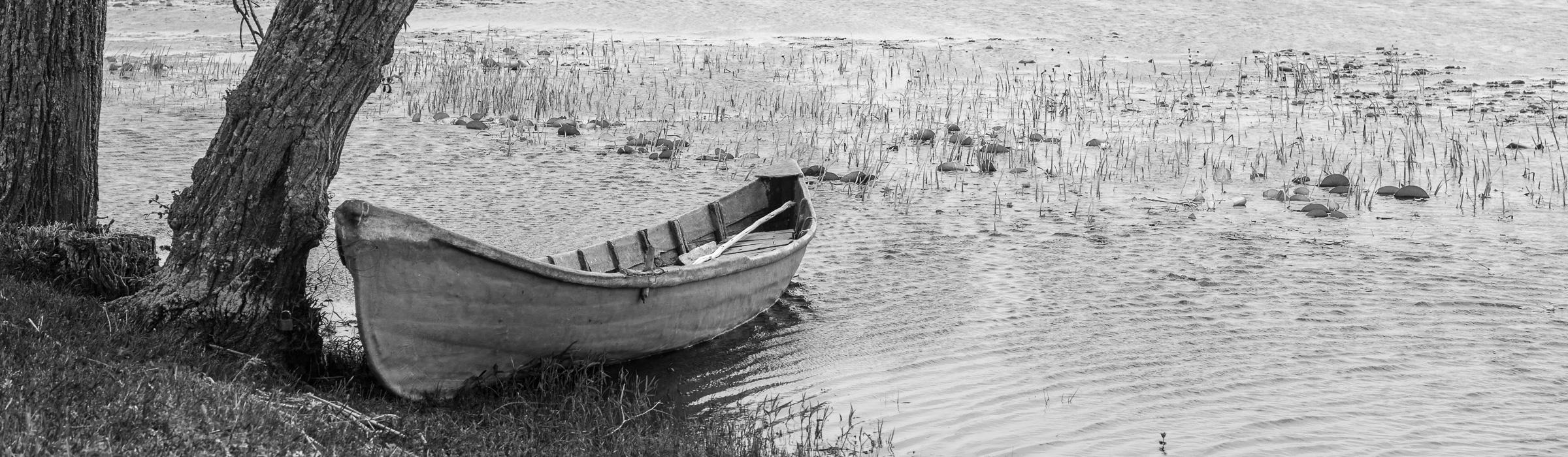 Boot im Donaudelta in Rumänien