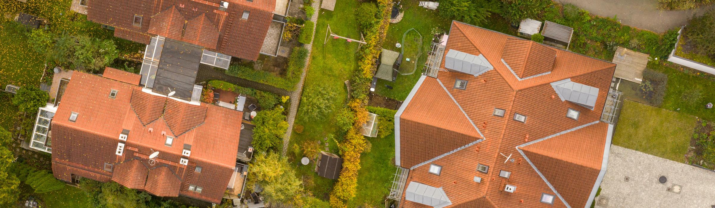 Drohnenfotografie Dachinspektion