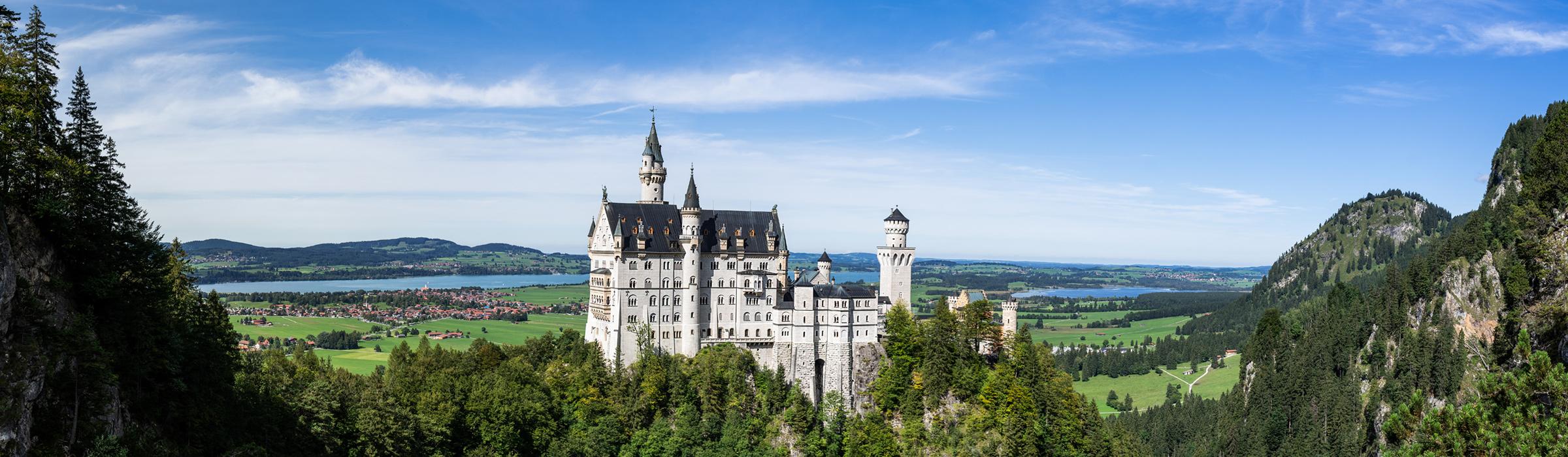 Panorama vom Schloss Neuschwanstein