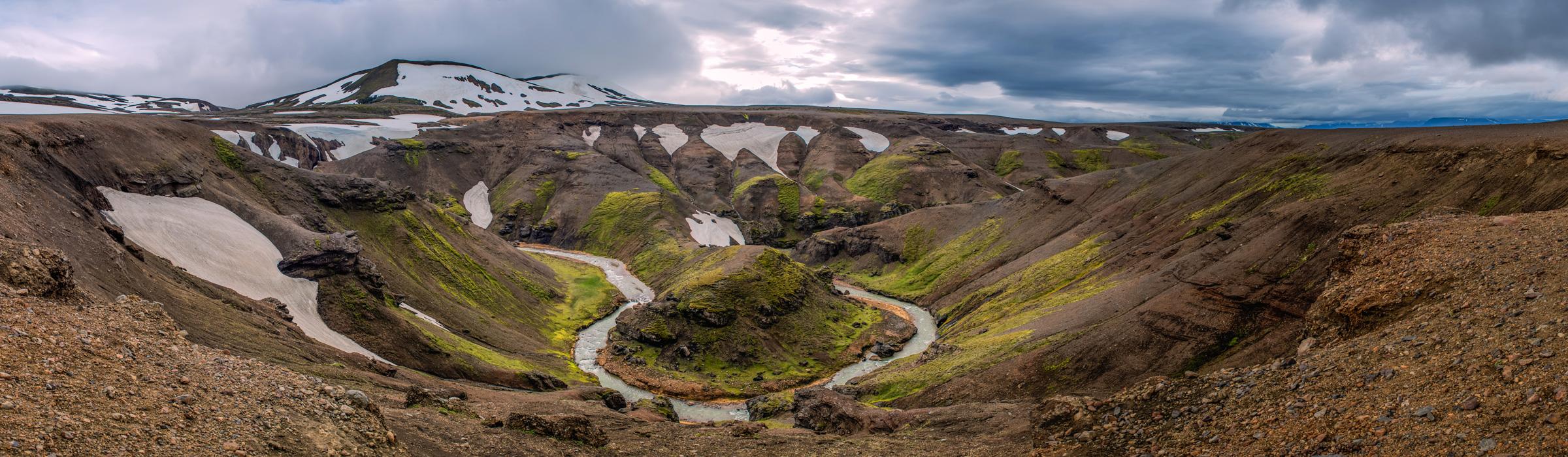 Atemberaubende Landschaft in Island
