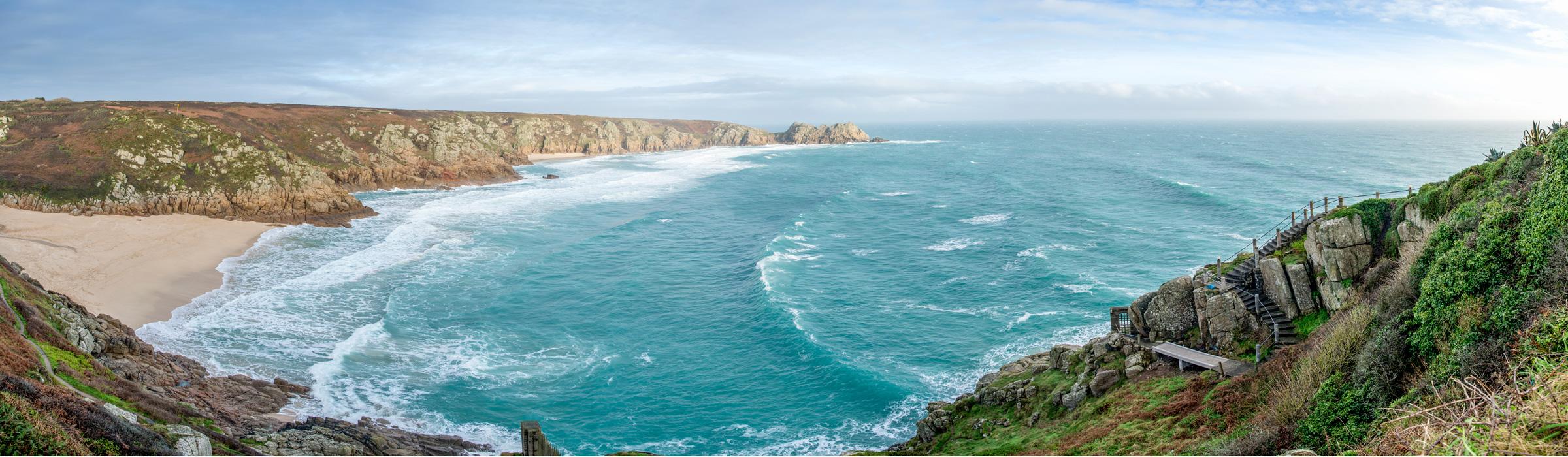 Küstenpanorama in Cornwall