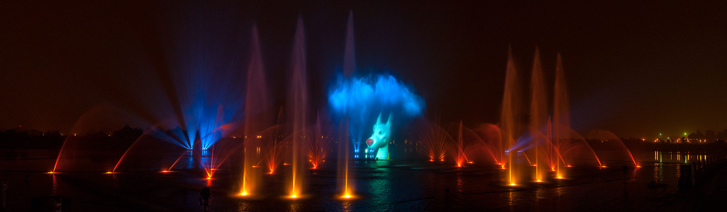 Schau im Themenpark Tang-Paradise in Xian